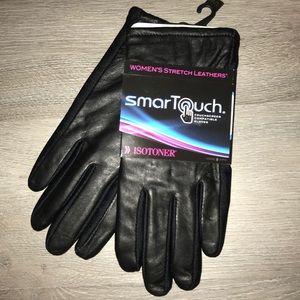 Isotoner black gloves